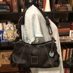 Dooney & Bourke Black Leather Mini East/West Bag
